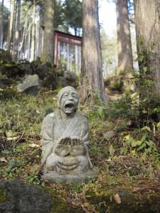 おじいさん風な羅漢像の図、へぼい版