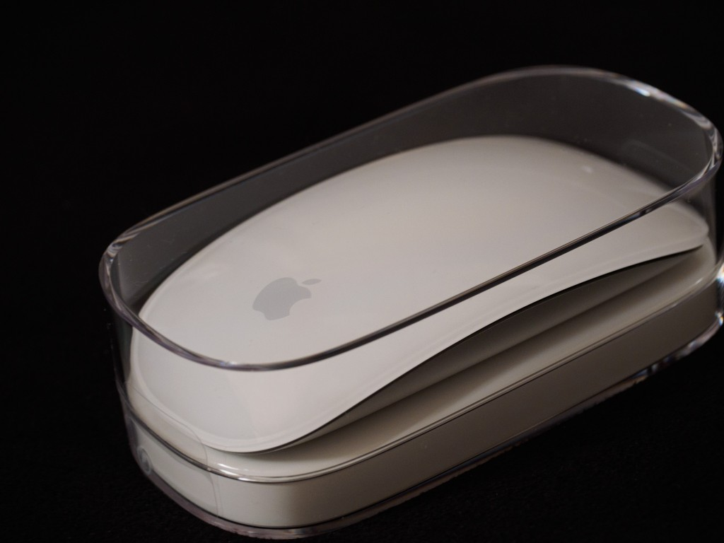 Apple Magic Mouse in its case