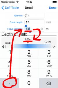 ドイツ語ユーザは数値入力キーボードでピリオドを入力できない