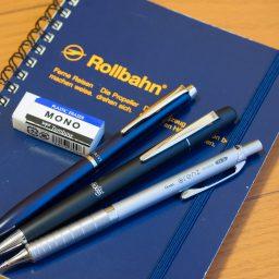 Rollbahnのリングにペンを挿す